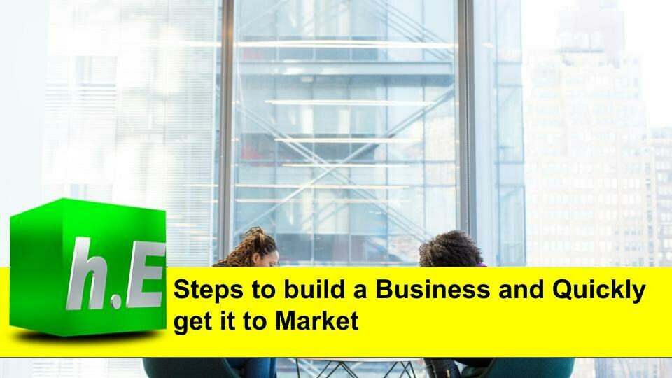 Steps to build a Business and Quickly get it to Marketp