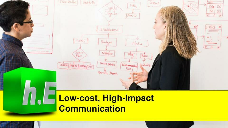 Low-cost, High-Impact Communication