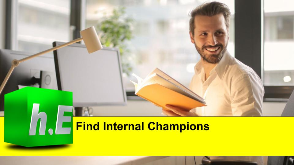 Find Internal Champions