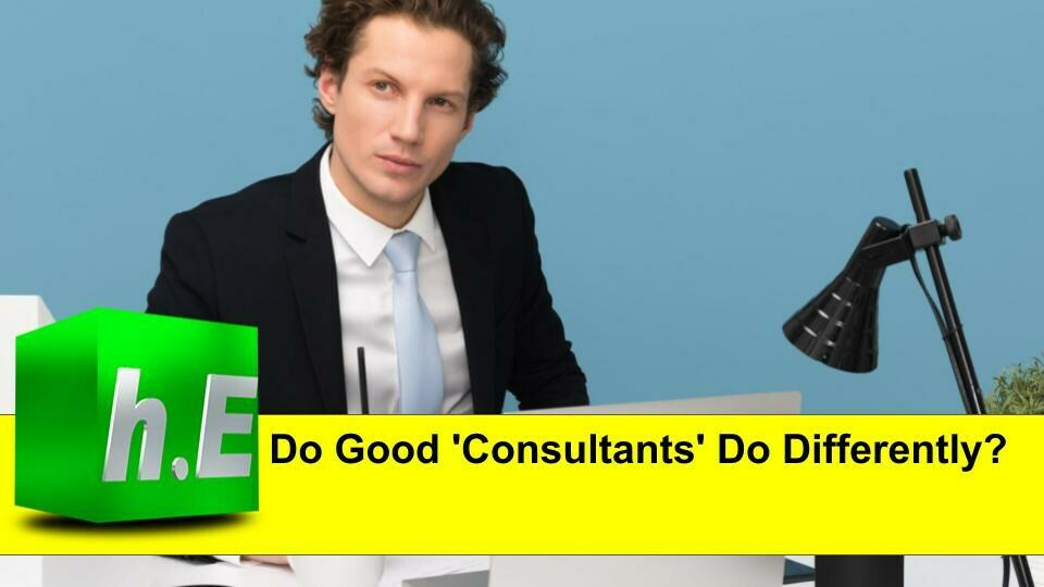 Do Good 'Consultants' Do Differently?