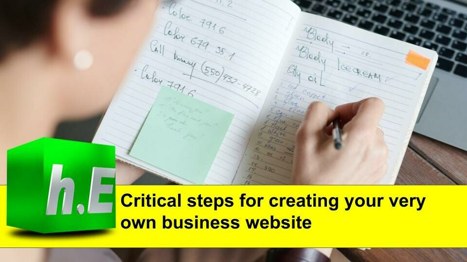 Critical steps for creating your very own business website.