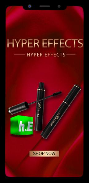 app mocks Hyper Effects Phone App