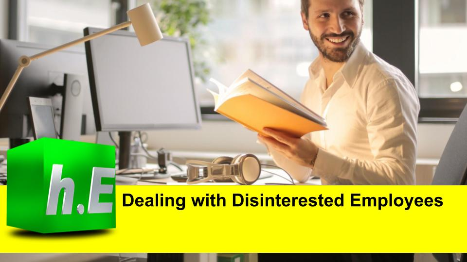 Dealing with Disinterested Employees